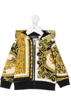 VERSACE Hoodies - Baroque print hoodie