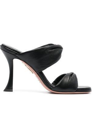 Aquazzura Women Flats - Twist 95mm leather mules