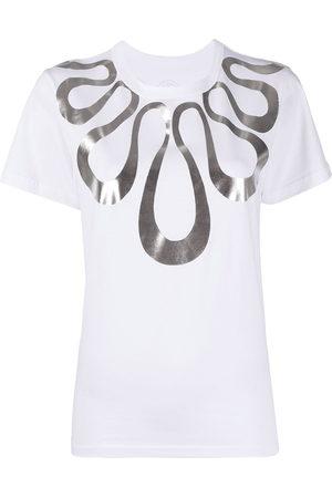 10 CORSO COMO Women Short Sleeve - Metallic graphic-print T-shirt