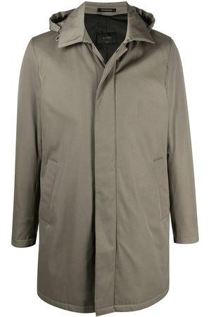 DELL'OGLIO Men Coats - Hooded single breasted coat