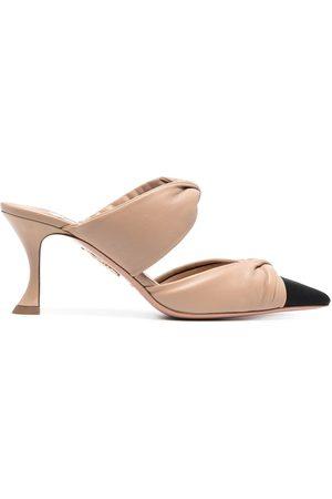 Aquazzura Women Flats - Twist 75mm leather mules
