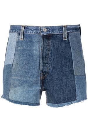 RE/DONE Women Shorts - Patchwork denim shorts