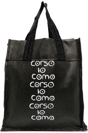10 CORSO COMO Women Handbags - Logo-print raffia tote bag