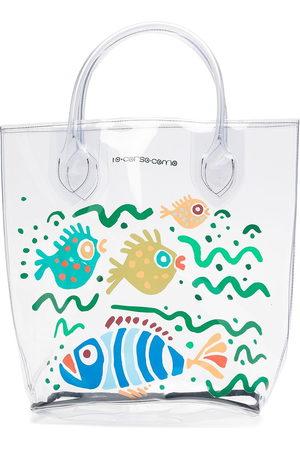 10 CORSO COMO Women Handbags - Large fish-print transparent tote bag