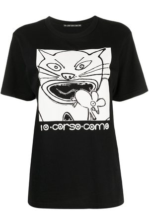 10 CORSO COMO Cat-print cotton T-shirt