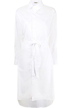 YOHJI YAMAMOTO Women Casual Dresses - Asymmetric-collar shirt dress