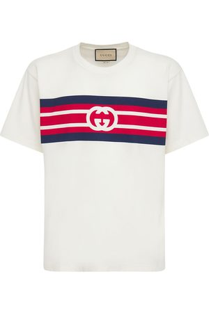 Gucci Gg Print Cotton T-shirt