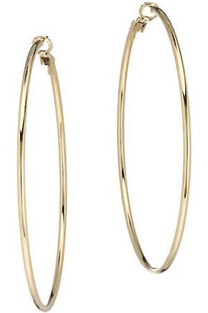 Kenneth Jay Lane Earrings - Medium 18K Goldplated Thin Wire Medium Hoop Earrings