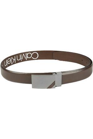 Calvin Klein Men Belts - Men Brown Solid Leather Belt