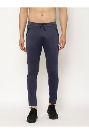 SAPPER Men Navy Blue Solid Slim-Fit Track Pants