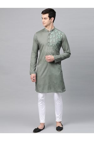 See Designs Men Sea Green Solid Top with Pyjamas