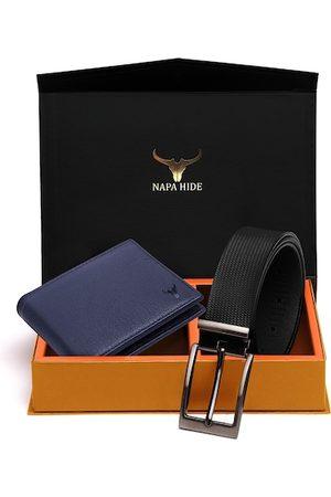 NAPA HIDE Men Belts - Men RFID Protected Genuine High Quality Leather Wallet & Belt Accessory Gift Set