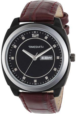 TIMESMITH Men Black Leather Analogue Watch TSC-001