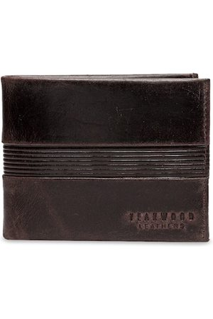 Teakwood Leathers Men Brown Solid Two Fold Leather Wallet