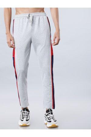 Highlander Men Grey Melange Solid Slim-Fit Track Pants