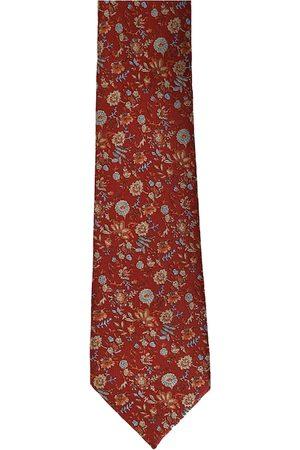 Calvadoss Men Red & Blue Woven Design Broad Tie