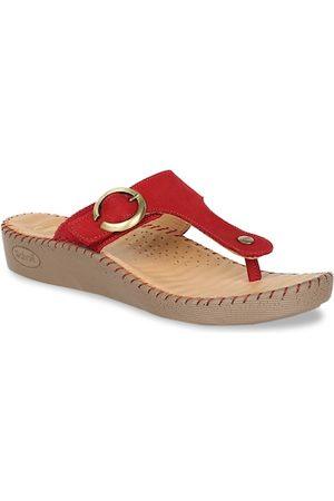 Scholl Women Red Solid Comfort Heels