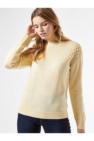 Dorothy Perkins Women Acrylic Cream-Coloured Solid Pullover