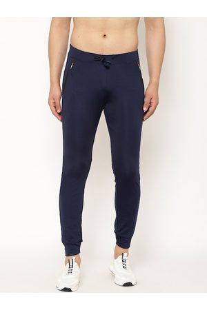 SAPPER Men Navy Blue Solid Slim Fit Joggers