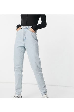 Missguided Riot highwaisted recycled denim mom jean in bue
