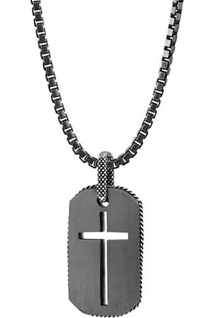 Tateossian Cross Dog Tag Necklace