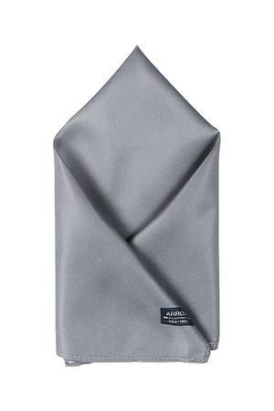 Arrow Men Grey Solid Pocket Square
