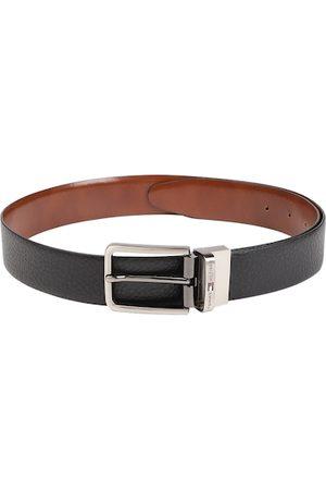 Tommy Hilfiger Men Black & Tan Brown Reversible Leather Belt