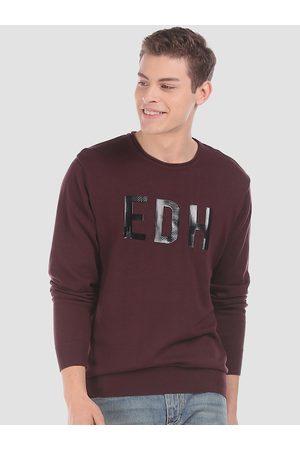 ED HARDY Men Maroon Printed Sweater