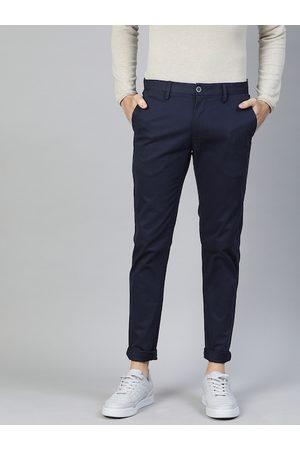 Ralph Lauren Men Navy Blue Austin Slim Fit Solid Chinos