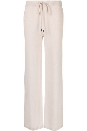 PESERICO SIGN Tied-waist ribbed knit trousers