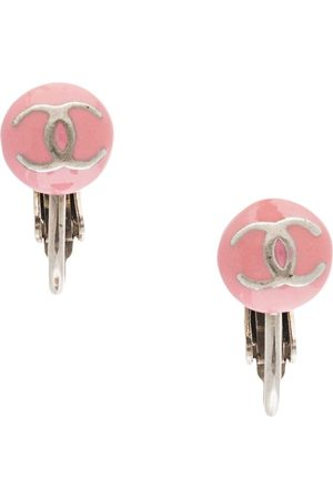 CHANEL 2003 CC micro clip-on earrings