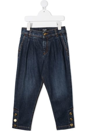 Balmain Girls Jeans - Buttoned ankles jeans