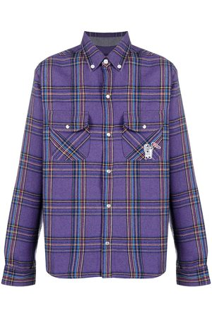 Billionaire Boys Club Logo-embroidered check-print shirt