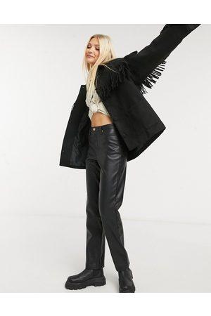 In The Style X Megan Mckenna fringe jacket in