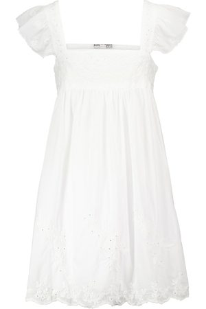 Juliet Dunn Embellished cotton minidress