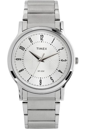Timex Men Silver-Toned Dial Watch TI000R41400