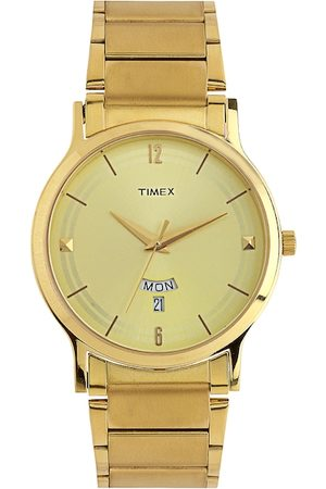 Timex Men Gold-Toned Dial Watch TI000R421