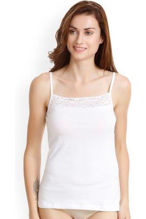 Zivame Women White Lacy Camisole ZI6100FASHWHITE