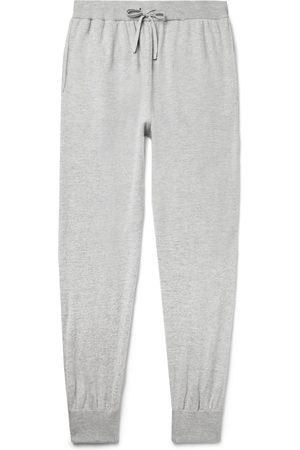 Mr P. Men Formal Trousers - Slim-Fit Melangé Wool and Cashmere-Blend Sweatpants