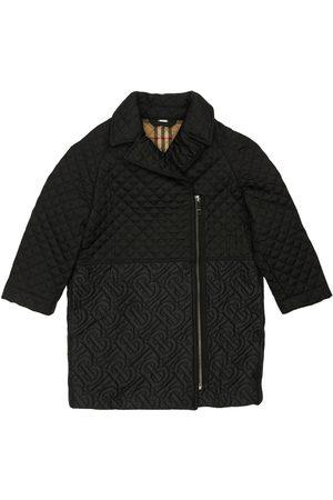 Burberry Girls Coats - Quilted Logo Nylon Coat