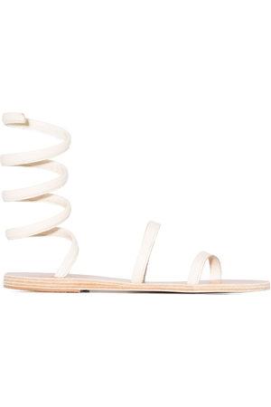 Ancient Greek Sandals Women Platform Sandals - Ofis ankle-wrap sandals