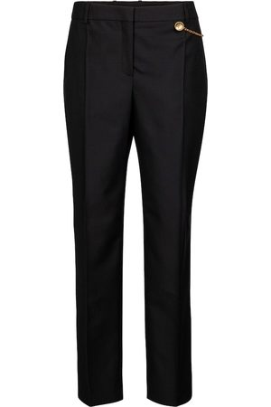 Givenchy Chain-trimmed wool cigarette pants