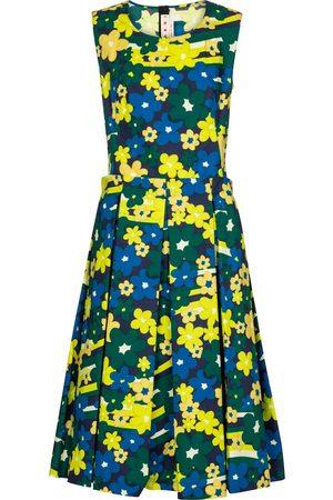 Marni Floral cotton midi dress