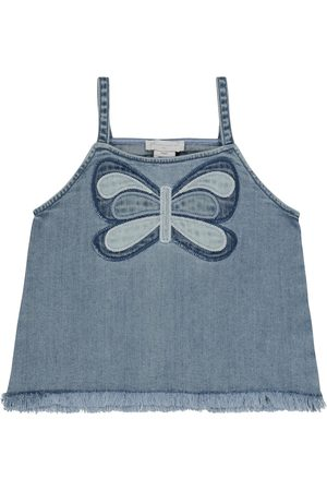 Stella McCartney Embroidered stretch-denim tank top