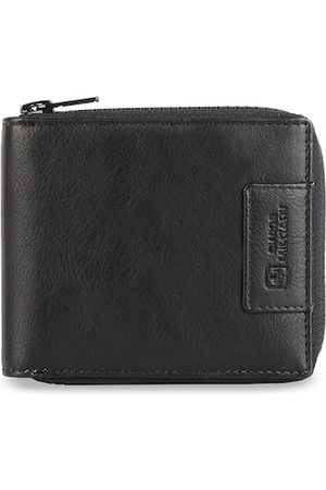 Swiss Military Men Black Solid Leather Two Fold Wallet