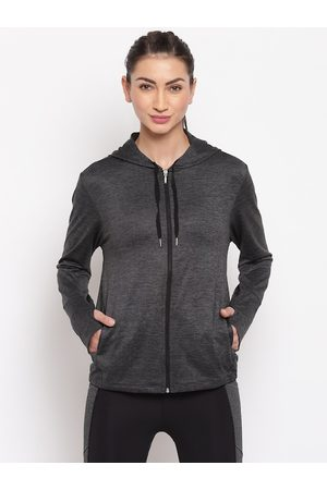 ENAMORA Women Jackets - Women Grey Solid Lightweight Sporty Jacket