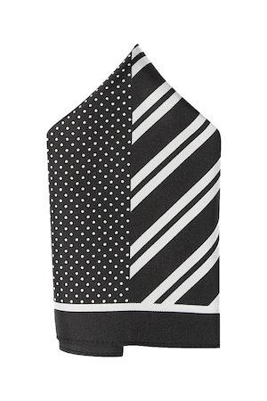 Arrow Men Black & White Printed Silk Pocket Square