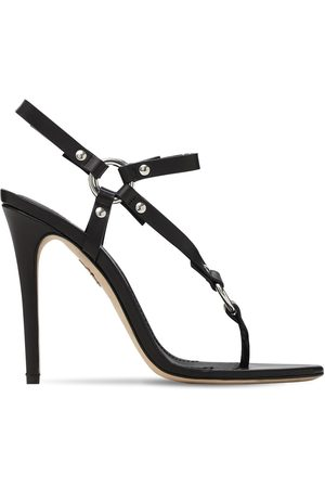 Dsquared2 110mm Harness Leather & Pvc Thong Sandal
