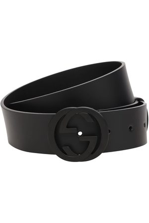 Gucci 37mm Interlocking G Buckle Leather Belt