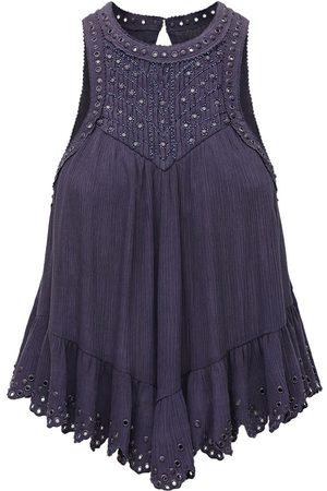Isabel Marant Lanny Studded Cotton & Silk Top